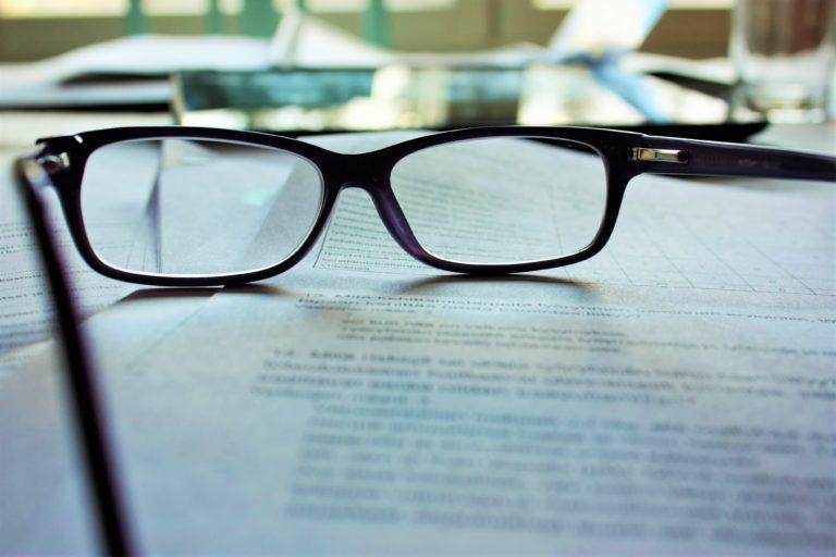 glasses studying